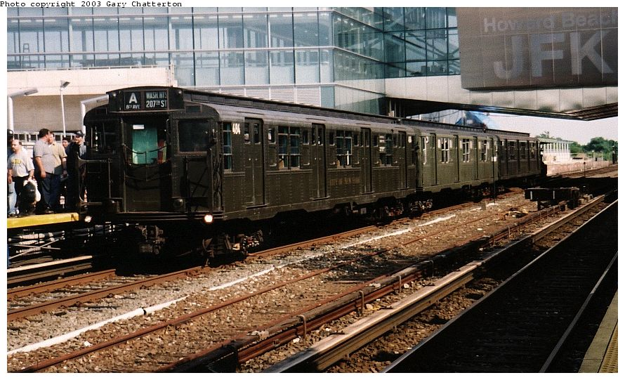 (126k, 890x541)<br><b>Country:</b> United States<br><b>City:</b> New York<br><b>System:</b> New York City Transit<br><b>Line:</b> IND Rockaway Line<br><b>Location:</b> Howard Beach/JFK Airport<br><b>Route:</b> Fan Trip<br><b>Car:</b> R-4 (American Car & Foundry, 1932-1933) 484 <br><b>Photo by:</b> Gary Chatterton<br><b>Date:</b> 6/28/2003<br><b>Viewed (this week/total):</b> 3 / 4910