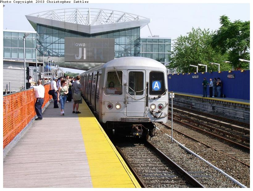 (113k, 820x619)<br><b>Country:</b> United States<br><b>City:</b> New York<br><b>System:</b> New York City Transit<br><b>Line:</b> IND Rockaway Line<br><b>Location:</b> Howard Beach/JFK Airport<br><b>Car:</b> R-44 (St. Louis, 1971-73)  <br><b>Photo by:</b> Christopher Sattler<br><b>Date:</b> 6/28/2003<br><b>Viewed (this week/total):</b> 3 / 8043