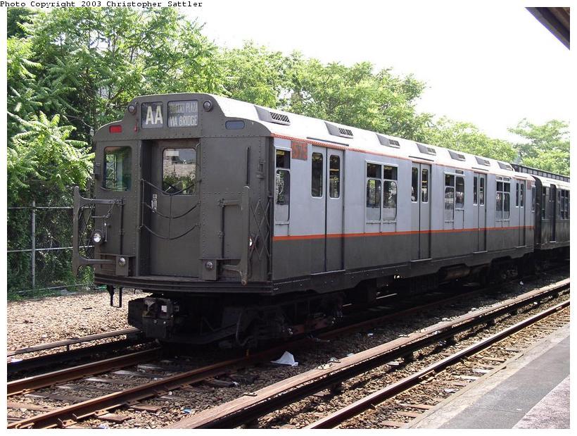 (118k, 820x619)<br><b>Country:</b> United States<br><b>City:</b> New York<br><b>System:</b> New York City Transit<br><b>Line:</b> IND Rockaway Line<br><b>Location:</b> Rockaway Park/Beach 116th Street<br><b>Route:</b> Fan Trip<br><b>Car:</b> R-7A (Pullman, 1938) 1575 <br><b>Photo by:</b> Christopher Sattler<br><b>Date:</b> 6/28/2003<br><b>Viewed (this week/total):</b> 2 / 8266