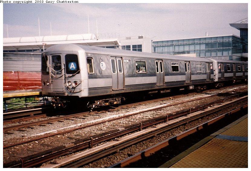 (111k, 830x566)<br><b>Country:</b> United States<br><b>City:</b> New York<br><b>System:</b> New York City Transit<br><b>Line:</b> IND Rockaway Line<br><b>Location:</b> Howard Beach/JFK Airport<br><b>Route:</b> A<br><b>Car:</b> R-44 (St. Louis, 1971-73) 5276 <br><b>Photo by:</b> Gary Chatterton<br><b>Date:</b> 6/28/2003<br><b>Viewed (this week/total):</b> 3 / 4638