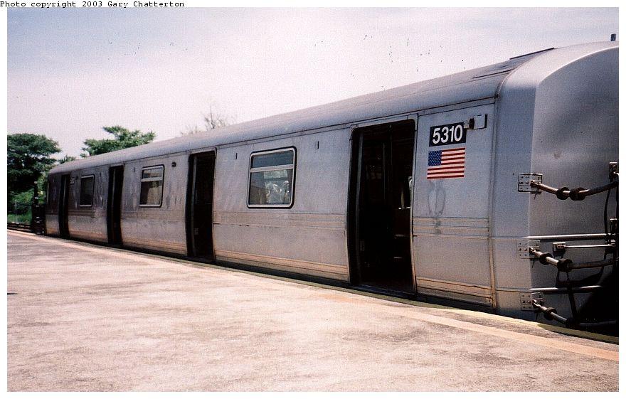 (89k, 880x561)<br><b>Country:</b> United States<br><b>City:</b> New York<br><b>System:</b> New York City Transit<br><b>Line:</b> IND Rockaway Line<br><b>Location:</b> Rockaway Park/Beach 116th Street<br><b>Route:</b> S<br><b>Car:</b> R-44 (St. Louis, 1971-73) 5310 <br><b>Photo by:</b> Gary Chatterton<br><b>Date:</b> 6/28/2003<br><b>Viewed (this week/total):</b> 4 / 4466