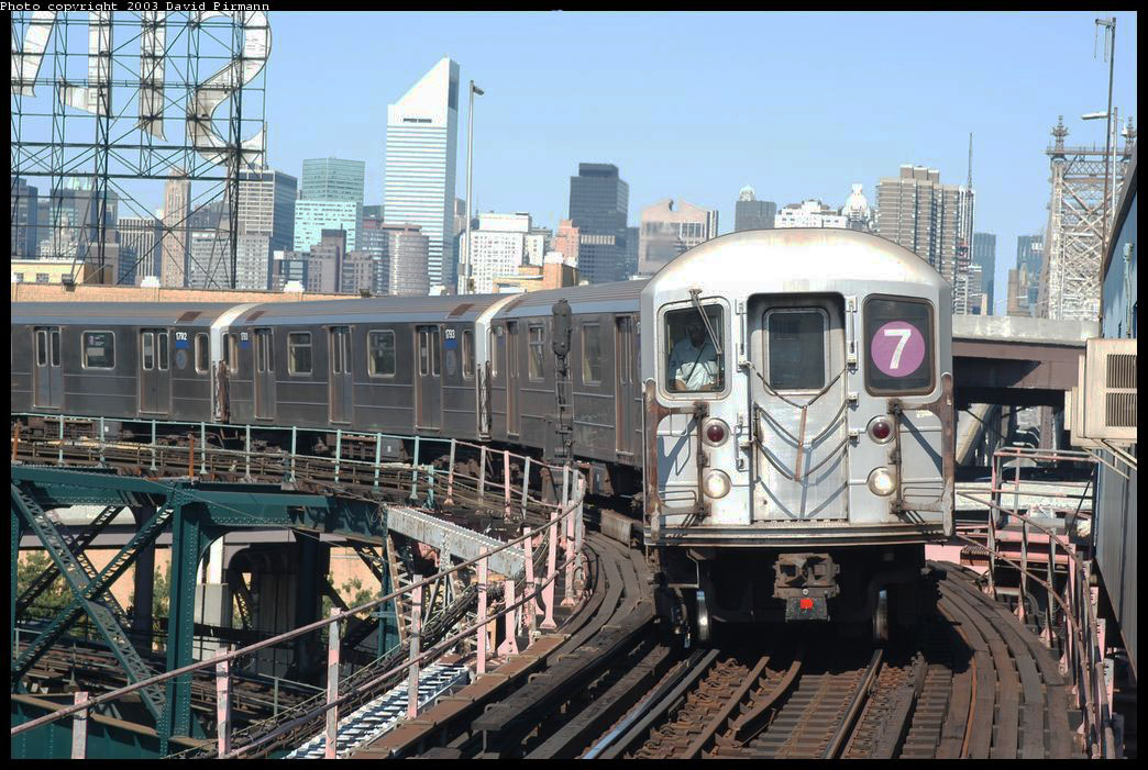 (253k, 1044x701)<br><b>Country:</b> United States<br><b>City:</b> New York<br><b>System:</b> New York City Transit<br><b>Line:</b> IRT Flushing Line<br><b>Location:</b> Queensborough Plaza<br><b>Route:</b> 7<br><b>Car:</b> R-62A (Bombardier, 1984-1987) 1795 <br><b>Photo by:</b> David Pirmann<br><b>Date:</b> 8/23/2003<br><b>Viewed (this week/total):</b> 0 / 9886