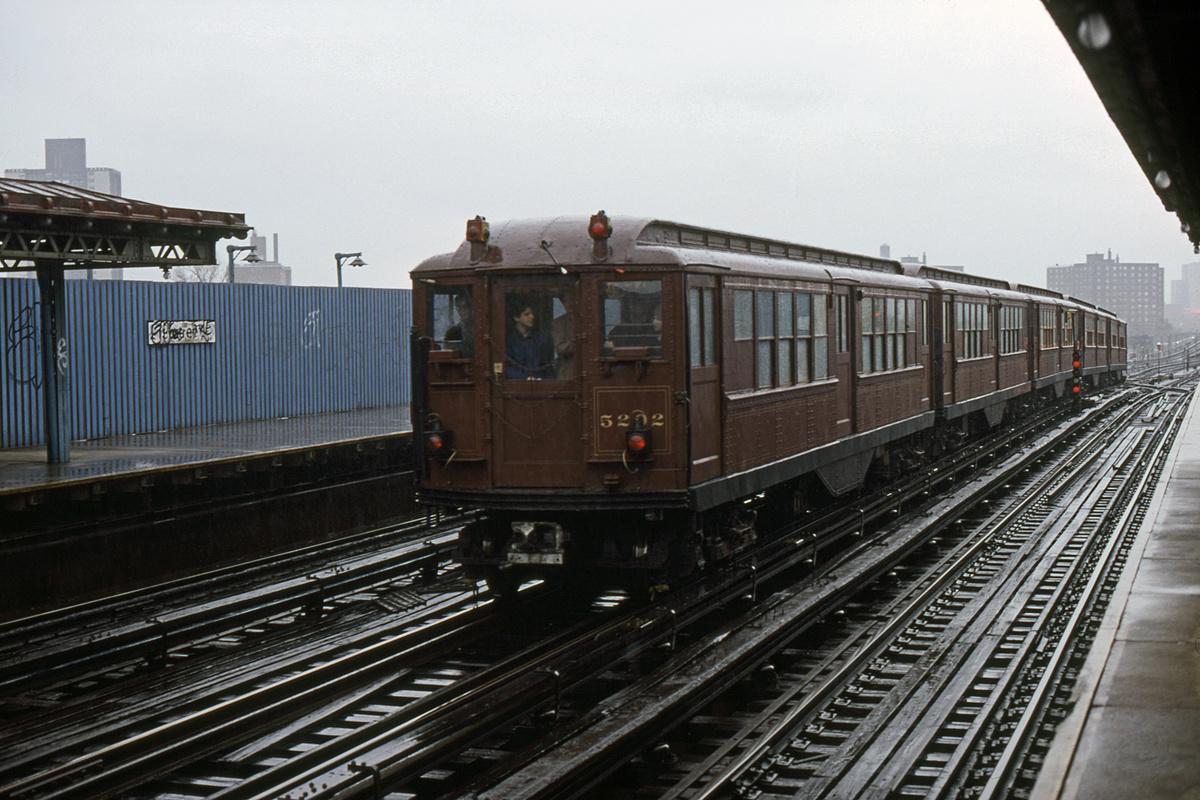 (468k, 1200x800)<br><b>Country:</b> United States<br><b>City:</b> New York<br><b>System:</b> New York City Transit<br><b>Line:</b> IRT White Plains Road Line<br><b>Location:</b> 219th Street<br><b>Route:</b> Fan Trip<br><b>Car:</b> Low-V (Museum Train) 5292 <br><b>Collection of:</b> David Pirmann<br><b>Date:</b> 11/3/1979<br><b>Viewed (this week/total):</b> 1 / 4283
