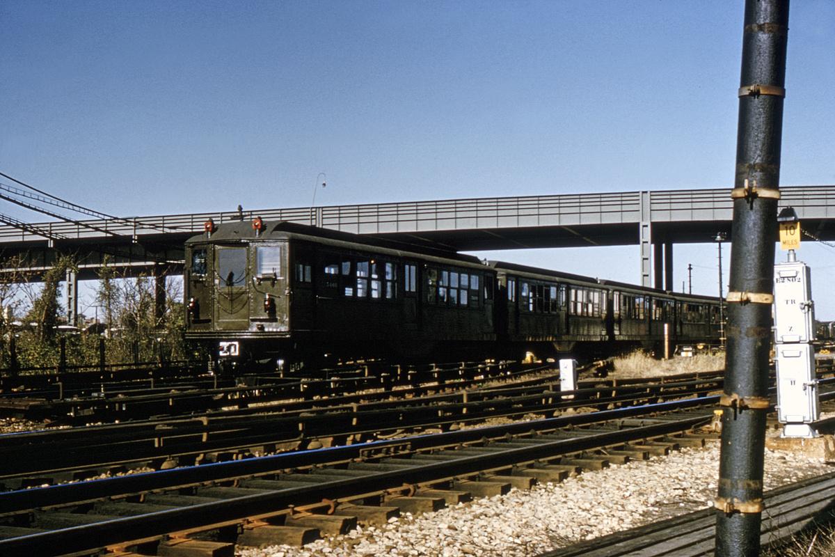 (513k, 1200x800)<br><b>Country:</b> United States<br><b>City:</b> New York<br><b>System:</b> New York City Transit<br><b>Location:</b> Coney Island Yard<br><b>Route:</b> Fan Trip<br><b>Car:</b> Low-V (Museum Train) 5466 <br><b>Collection of:</b> David Pirmann<br><b>Date:</b> 11/24/1964<br><b>Viewed (this week/total):</b> 0 / 3412