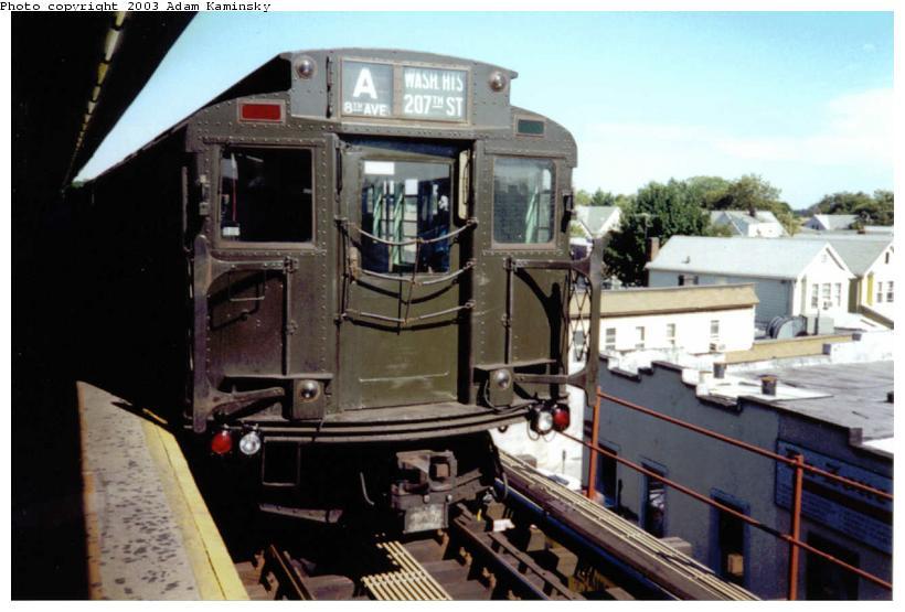 (66k, 820x555)<br><b>Country:</b> United States<br><b>City:</b> New York<br><b>System:</b> New York City Transit<br><b>Line:</b> IND Fulton Street Line<br><b>Location:</b> Lefferts Boulevard<br><b>Route:</b> Fan Trip<br><b>Car:</b> R-4 (American Car & Foundry, 1932-1933) 484 <br><b>Photo by:</b> Adam Kaminsky<br><b>Date:</b> 8/24/2003<br><b>Viewed (this week/total):</b> 1 / 4122