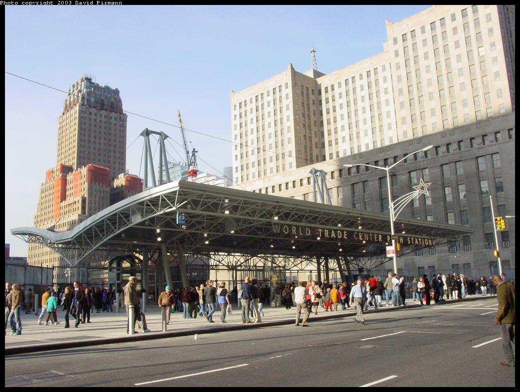 (164k, 1044x788)<br><b>Country:</b> United States<br><b>City:</b> New York<br><b>System:</b> PATH<br><b>Location:</b> World Trade Center<br><b>Photo by:</b> David Pirmann<br><b>Date:</b> 11/23/2003<br><b>Notes:</b> New street entrance at Church & Vesey<br><b>Viewed (this week/total):</b> 0 / 10102