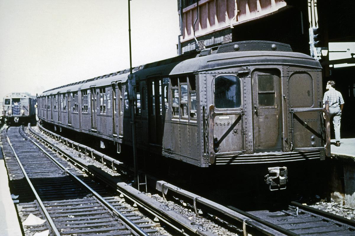 (479k, 1200x800)<br><b>Country:</b> United States<br><b>City:</b> New York<br><b>System:</b> New York City Transit<br><b>Location:</b> Coney Island/Stillwell Avenue<br><b>Route:</b> Fan Trip<br><b>Car:</b> BMT A/B-Type Standard 2392 <br><b>Collection of:</b> David Pirmann<br><b>Date:</b> 8/23/1969<br><b>Viewed (this week/total):</b> 2 / 3574