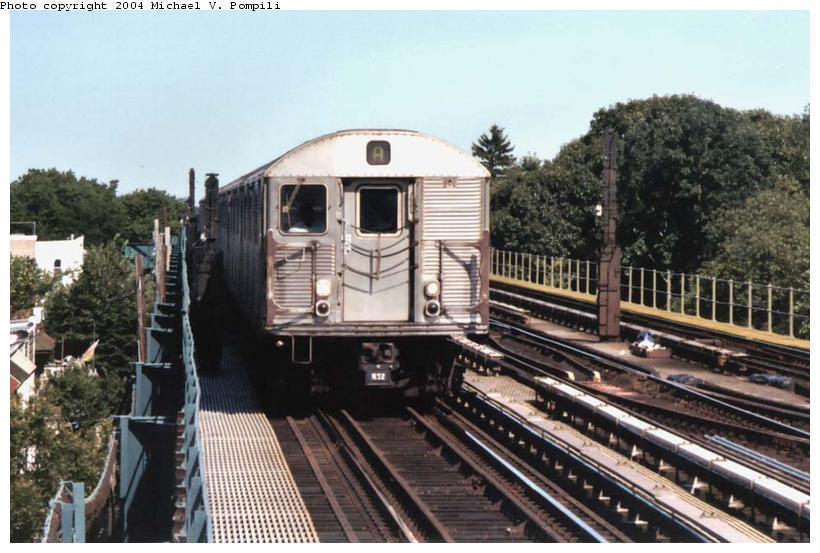 (95k, 820x553)<br><b>Country:</b> United States<br><b>City:</b> New York<br><b>System:</b> New York City Transit<br><b>Line:</b> IND Fulton Street Line<br><b>Location:</b> 80th Street-Hudson Street<br><b>Route:</b> A<br><b>Car:</b> R-32 (Budd, 1964)  <br><b>Photo by:</b> Michael Pompili<br><b>Date:</b> 8/24/2003<br><b>Viewed (this week/total):</b> 3 / 4839
