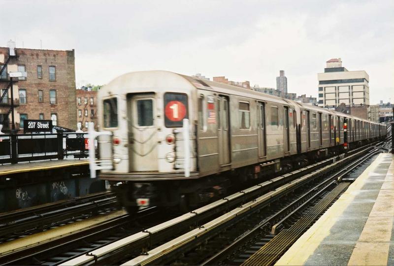 (67k, 800x540)<br><b>Country:</b> United States<br><b>City:</b> New York<br><b>System:</b> New York City Transit<br><b>Line:</b> IRT West Side Line<br><b>Location:</b> 207th Street<br><b>Route:</b> 1<br><b>Car:</b> R-62A (Bombardier, 1984-1987) 2251 <br><b>Photo by:</b> Gary Chatterton<br><b>Date:</b> 5/1/2005<br><b>Viewed (this week/total):</b> 0 / 3850