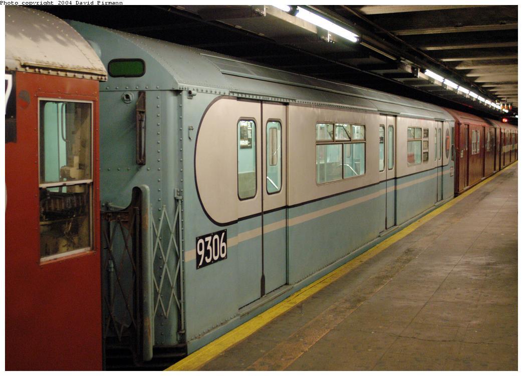 (156k, 1044x751)<br><b>Country:</b> United States<br><b>City:</b> New York<br><b>System:</b> New York City Transit<br><b>Line:</b> IRT Pelham Line<br><b>Location:</b> Hunts Point Avenue<br><b>Route:</b> Fan Trip<br><b>Car:</b> R-33 World's Fair (St. Louis, 1963-64) 9306 <br><b>Photo by:</b> David Pirmann<br><b>Date:</b> 4/17/2004<br><b>Viewed (this week/total):</b> 1 / 5107