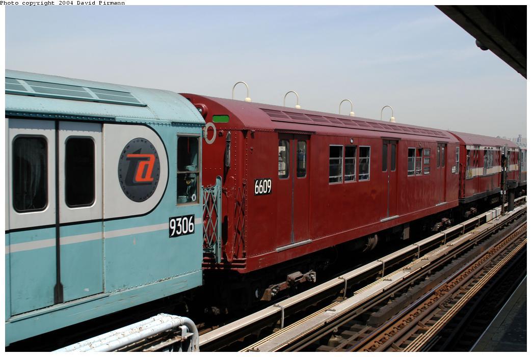 (157k, 1044x701)<br><b>Country:</b> United States<br><b>City:</b> New York<br><b>System:</b> New York City Transit<br><b>Line:</b> IRT Pelham Line<br><b>Location:</b> Westchester Square<br><b>Route:</b> Fan Trip<br><b>Car:</b> R-17 (St. Louis, 1955-56) 6609 <br><b>Photo by:</b> David Pirmann<br><b>Date:</b> 4/17/2004<br><b>Viewed (this week/total):</b> 0 / 3198