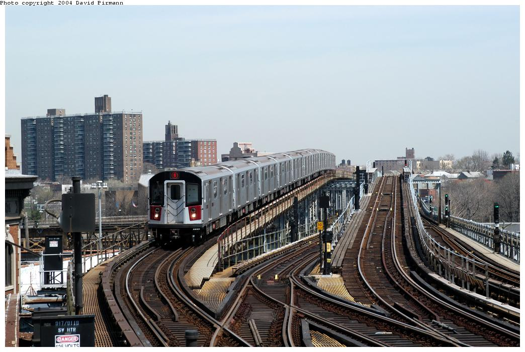 (173k, 1044x701)<br><b>Country:</b> United States<br><b>City:</b> New York<br><b>System:</b> New York City Transit<br><b>Line:</b> IRT Pelham Line<br><b>Location:</b> Westchester Square<br><b>Route:</b> 6<br><b>Car:</b> R-142A (Primary Order, Kawasaki, 1999-2002) 7586 <br><b>Photo by:</b> David Pirmann<br><b>Date:</b> 4/17/2004<br><b>Viewed (this week/total):</b> 0 / 9335