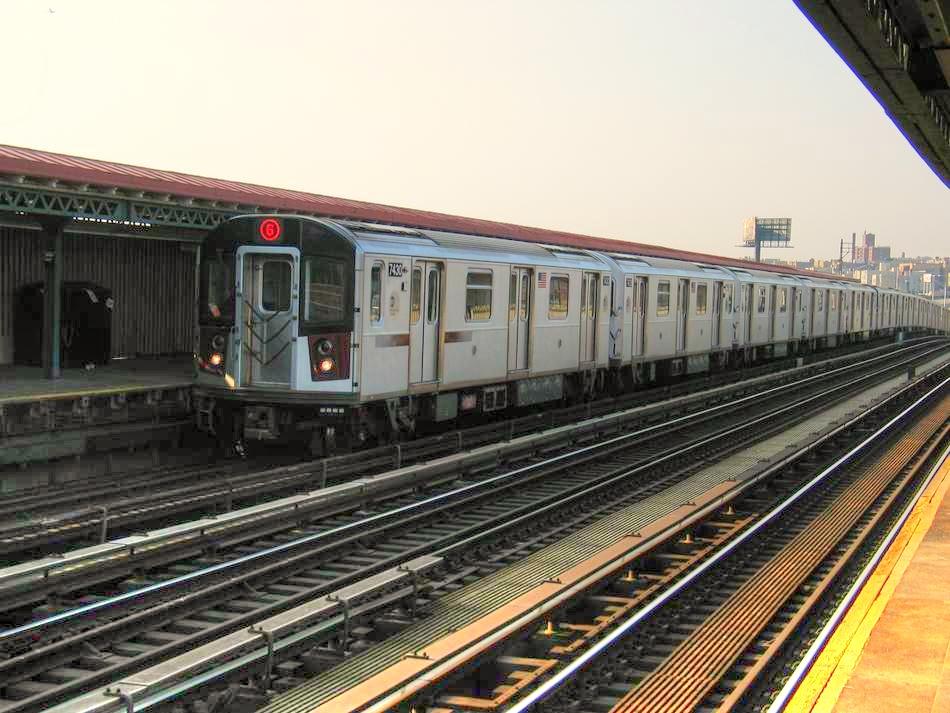 (394k, 950x713)<br><b>Country:</b> United States<br><b>City:</b> New York<br><b>System:</b> New York City Transit<br><b>Line:</b> IRT Pelham Line<br><b>Location:</b> Whitlock Avenue<br><b>Route:</b> 6<br><b>Car:</b> R-142A (Primary Order, Kawasaki, 1999-2002) 7430 <br><b>Photo by:</b> David of Broadway<br><b>Date:</b> 4/18/2004<br><b>Viewed (this week/total):</b> 2 / 3369