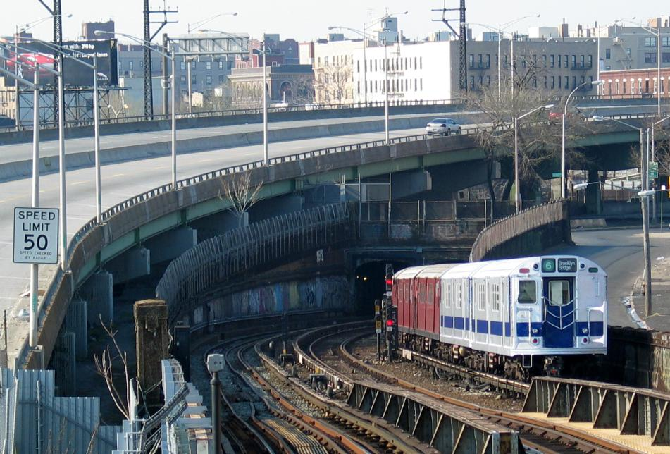 (119k, 951x644)<br><b>Country:</b> United States<br><b>City:</b> New York<br><b>System:</b> New York City Transit<br><b>Line:</b> IRT Pelham Line<br><b>Location:</b> Whitlock Avenue<br><b>Route:</b> Fan Trip<br><b>Car:</b> R-33 Main Line (St. Louis, 1962-63) 9010 <br><b>Photo by:</b> David of Broadway<br><b>Date:</b> 4/18/2004<br><b>Viewed (this week/total):</b> 2 / 6072