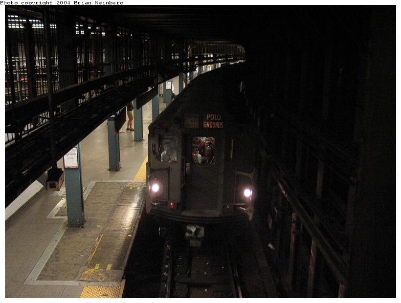 (63k, 820x620)<br><b>Country:</b> United States<br><b>City:</b> New York<br><b>System:</b> New York City Transit<br><b>Line:</b> IRT East Side Line<br><b>Location:</b> 14th Street/Union Square<br><b>Route:</b> Fan Trip<br><b>Car:</b> R-12 (American Car & Foundry, 1948) 5760 <br><b>Photo by:</b> Brian Weinberg<br><b>Date:</b> 4/18/2004<br><b>Viewed (this week/total):</b> 3 / 5300