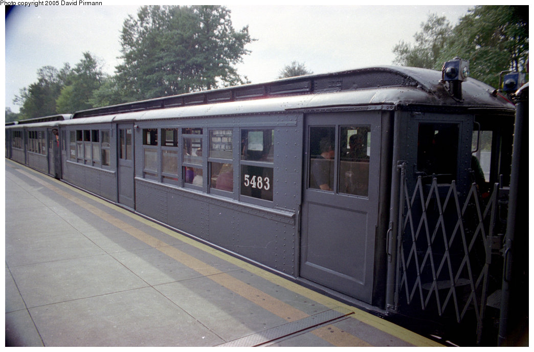 (168k, 1044x688)<br><b>Country:</b> United States<br><b>City:</b> New York<br><b>System:</b> New York City Transit<br><b>Line:</b> IRT Dyre Ave. Line<br><b>Location:</b> Baychester Avenue<br><b>Route:</b> Fan Trip<br><b>Car:</b> Low-V (Museum Train) 5483 <br><b>Photo by:</b> David Pirmann<br><b>Date:</b> 9/13/1998<br><b>Viewed (this week/total):</b> 1 / 3438
