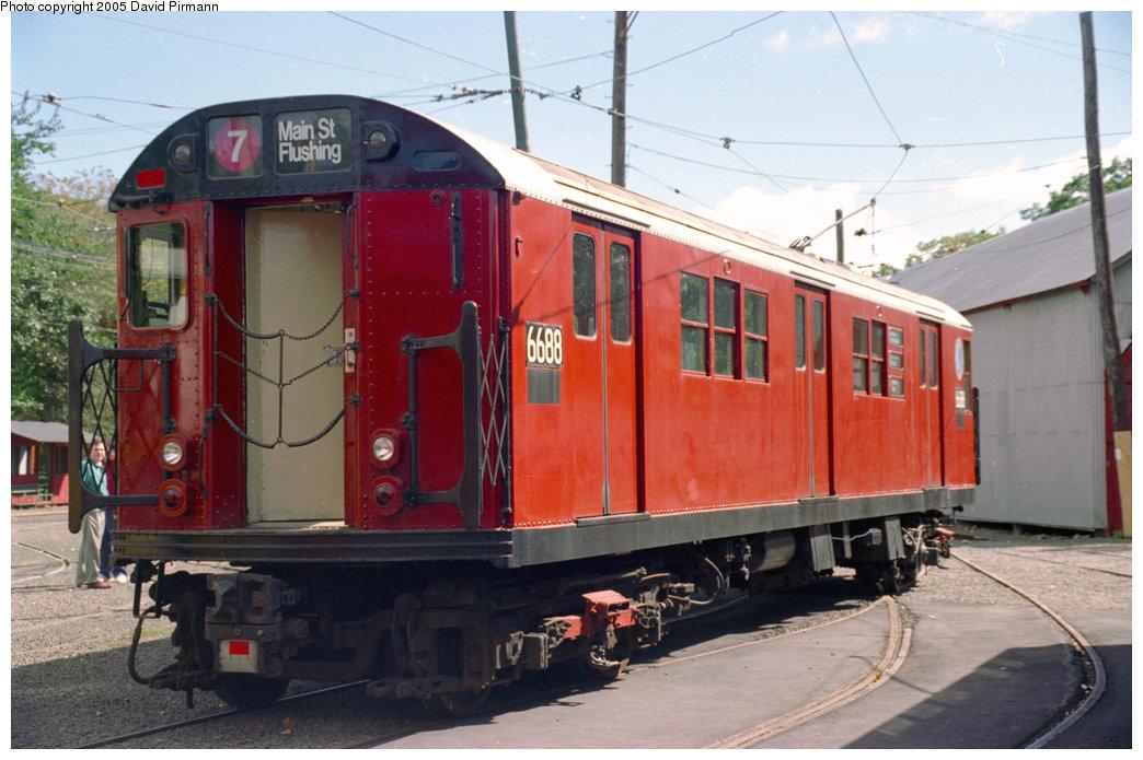 (198k, 1044x695)<br><b>Country:</b> United States<br><b>City:</b> East Haven/Branford, Ct.<br><b>System:</b> Shore Line Trolley Museum<br><b>Car:</b> R-17 (St. Louis, 1955-56) 6688 <br><b>Photo by:</b> David Pirmann<br><b>Date:</b> 10/5/1996<br><b>Viewed (this week/total):</b> 4 / 12387