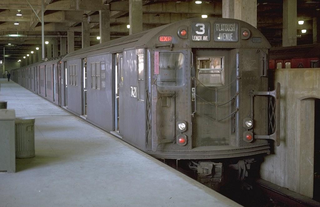 (164k, 1024x664)<br><b>Country:</b> United States<br><b>City:</b> New York<br><b>System:</b> New York City Transit<br><b>Line:</b> IRT Lenox Avenue Line<br><b>Location:</b> 148th Street/Lenox Terminal<br><b>Route:</b> 3<br><b>Car:</b> R-22 (St. Louis, 1957-58) 7421 <br><b>Photo by:</b> Joe Testagrose<br><b>Date:</b> 2/22/1970<br><b>Viewed (this week/total):</b> 3 / 9170