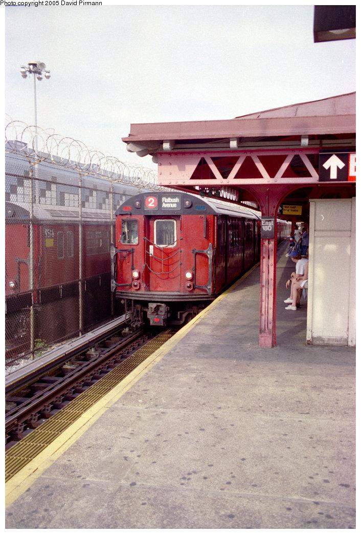 (213k, 706x1043)<br><b>Country:</b> United States<br><b>City:</b> New York<br><b>System:</b> New York City Transit<br><b>Line:</b> IRT White Plains Road Line<br><b>Location:</b> East 180th Street<br><b>Route:</b> 2<br><b>Photo by:</b> David Pirmann<br><b>Date:</b> 9/13/1998<br><b>Viewed (this week/total):</b> 2 / 4933