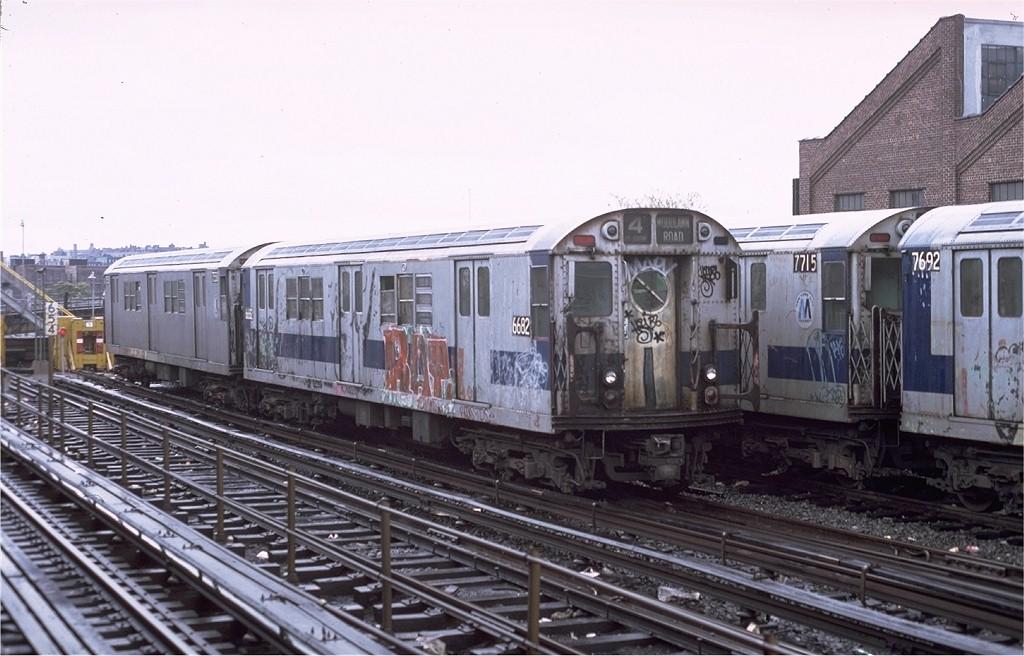 (182k, 1024x656)<br><b>Country:</b> United States<br><b>City:</b> New York<br><b>System:</b> New York City Transit<br><b>Location:</b> East 180th Street Yard<br><b>Car:</b> R-17 (St. Louis, 1955-56) 6682 <br><b>Photo by:</b> Joe Testagrose<br><b>Date:</b> 11/3/1979<br><b>Viewed (this week/total):</b> 0 / 4843