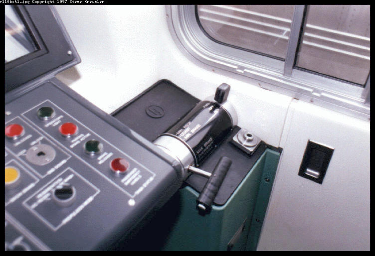(62k, 752x514)<br><b>Country:</b> United States<br><b>City:</b> New York<br><b>System:</b> New York City Transit<br><b>Car:</b> R-110B (Bombardier, 1992) Interior <br><b>Photo by:</b> Steve Kreisler<br><b>Date:</b> 1997<br><b>Notes:</b> Operator Controller<br><b>Viewed (this week/total):</b> 3 / 7425