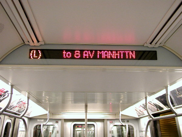 (68k, 600x450)<br><b>Country:</b> United States<br><b>City:</b> New York<br><b>System:</b> New York City Transit<br><b>Car:</b> R-143 (Kawasaki, 2001-2002) Interior <br><b>Photo by:</b> Trevor Logan<br><b>Date:</b> 12/4/2001<br><b>Notes:</b> Interior sign<br><b>Viewed (this week/total):</b> 2 / 18902