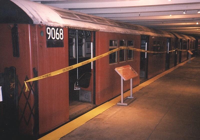 (70k, 800x561)<br><b>Country:</b> United States<br><b>City:</b> New York<br><b>System:</b> New York City Transit<br><b>Location:</b> New York Transit Museum<br><b>Car:</b> R-33 Main Line (St. Louis, 1962-63) 9068 <br><b>Photo by:</b> Gary Chatterton<br><b>Date:</b> 4/24/2004<br><b>Viewed (this week/total):</b> 6 / 10655