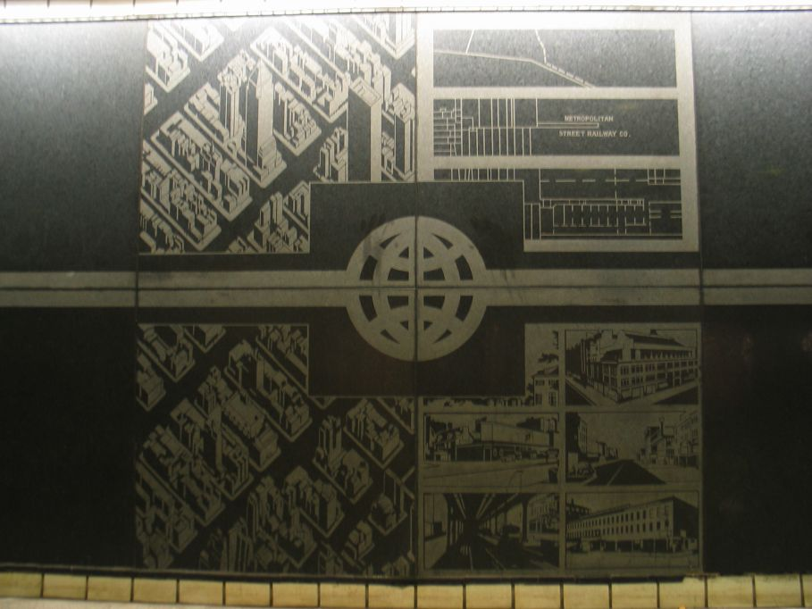 (84k, 909x682)<br><b>Country:</b> United States<br><b>City:</b> New York<br><b>System:</b> New York City Transit<br><b>Line:</b> IND Queens Boulevard Line<br><b>Location:</b> 50th Street<br><b>Photo by:</b> Brian Weinberg<br><b>Date:</b> 5/30/2004<br><b>Artwork:</b> <i>Untitled</i>, Matt Mullican, 1989<br><b>Notes:</b> Artwork on downtown side<br><b>Viewed (this week/total):</b> 1 / 3693