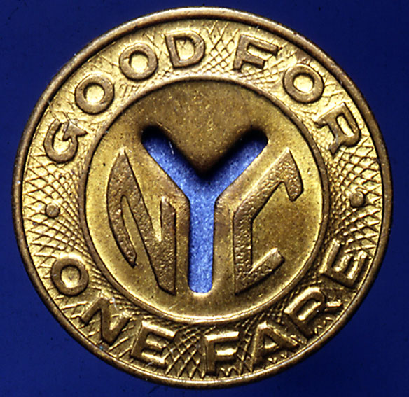 (128k, 584x567)<br><b>Country:</b> United States<br><b>City:</b> New York<br><b>System:</b> New York City Transit<br><b>Collection of:</b> George Cuhaj<br><b>Notes:</b> 1953 NYCTA Small Y cutout token<br><b>Viewed (this week/total):</b> 4 / 11590