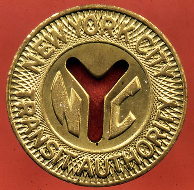 (143k, 624x612)<br><b>Country:</b> United States<br><b>City:</b> New York<br><b>System:</b> New York City Transit<br><b>Collection of:</b> George Cuhaj<br><b>Notes:</b> 1970 NYCTA Large Y cutout token; Obverse<br><b>Viewed (this week/total):</b> 3 / 7389