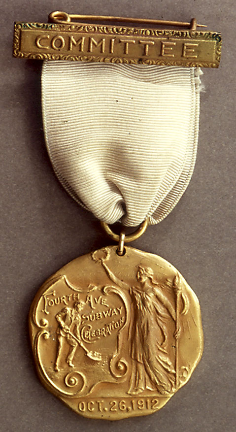 (119k, 479x877)<br><b>Country:</b> United States<br><b>City:</b> New York<br><b>System:</b> New York City Transit<br><b>Collection of:</b> George Cuhaj<br><b>Notes:</b> Fourth Avenue Subway Groundbreaking medal, 1912<br><b>Viewed (this week/total):</b> 3 / 6486