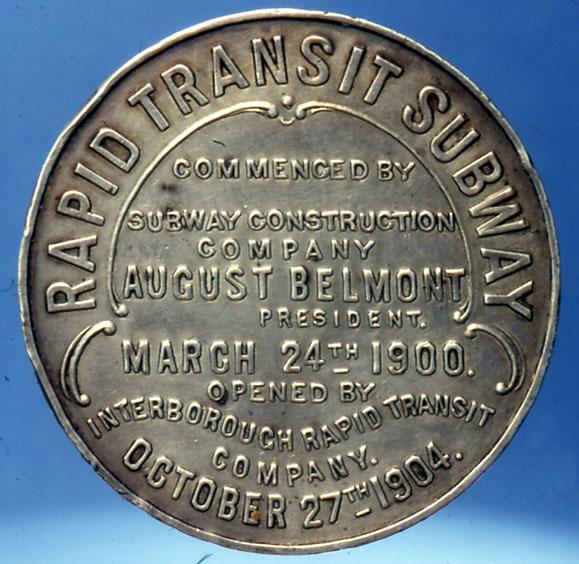 (99k, 579x564)<br><b>Country:</b> United States<br><b>City:</b> New York<br><b>System:</b> New York City Transit<br><b>Collection of:</b> George Cuhaj<br><b>Notes:</b> Opening day celebration medal, 1904; Reverse<br><b>Viewed (this week/total):</b> 3 / 6734