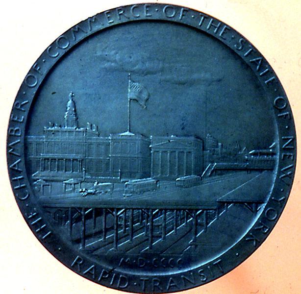 (111k, 614x600)<br><b>Country:</b> United States<br><b>City:</b> New York<br><b>System:</b> New York City Transit<br><b>Collection of:</b> George Cuhaj<br><b>Notes:</b> Medal presented to Abram S. Hewitt, 1900; Reverse<br><b>Viewed (this week/total):</b> 3 / 7075