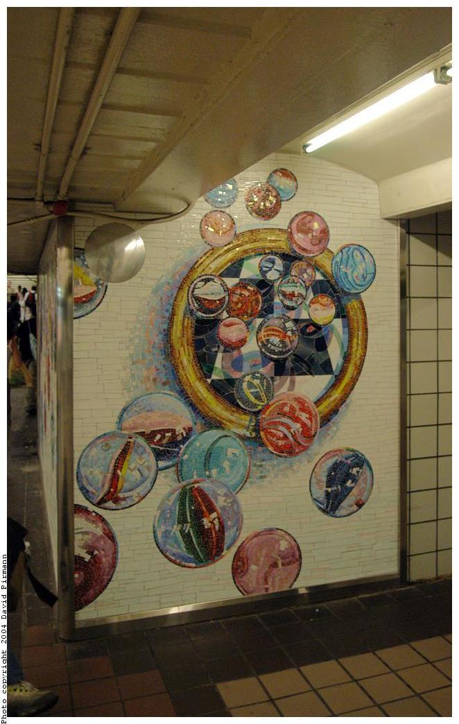 (149k, 662x1044)<br><b>Country:</b> United States<br><b>City:</b> New York<br><b>System:</b> New York City Transit<br><b>Line:</b> IND 8th Avenue Line<br><b>Location:</b> 42nd Street/Port Authority Bus Terminal<br><b>Photo by:</b> David Pirmann<br><b>Date:</b> 6/19/2004<br><b>Artwork:</b> <i>Losing My Marbles</i>, Lisa Dinhofer, 2003<br><b>Viewed (this week/total):</b> 5 / 5880