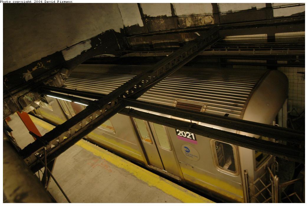 (146k, 1044x701)<br><b>Country:</b> United States<br><b>City:</b> New York<br><b>System:</b> New York City Transit<br><b>Line:</b> IRT Flushing Line<br><b>Location:</b> Times Square<br><b>Route:</b> 7<br><b>Car:</b> R-62A (Bombardier, 1984-1987) 2021 <br><b>Photo by:</b> David Pirmann<br><b>Date:</b> 6/19/2004<br><b>Viewed (this week/total):</b> 3 / 5881