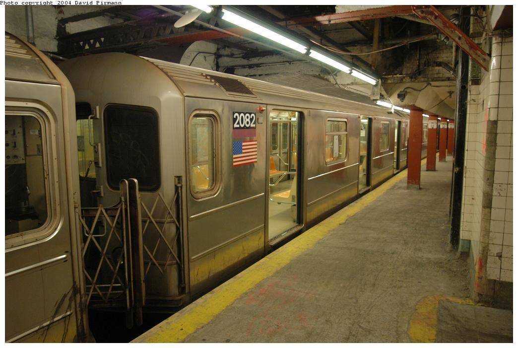 (158k, 1044x701)<br><b>Country:</b> United States<br><b>City:</b> New York<br><b>System:</b> New York City Transit<br><b>Line:</b> IRT Flushing Line<br><b>Location:</b> Times Square<br><b>Route:</b> 7<br><b>Car:</b> R-62A (Bombardier, 1984-1987) 2082 <br><b>Photo by:</b> David Pirmann<br><b>Date:</b> 6/19/2004<br><b>Viewed (this week/total):</b> 1 / 4236