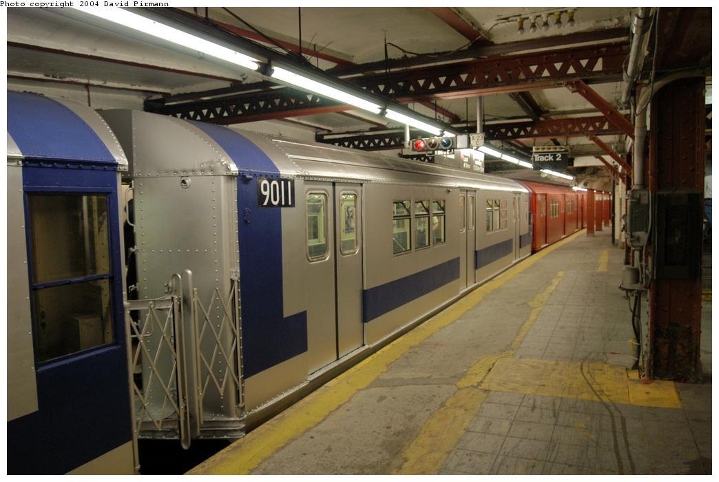 (156k, 1044x701)<br><b>Country:</b> United States<br><b>City:</b> New York<br><b>System:</b> New York City Transit<br><b>Line:</b> IRT Flushing Line<br><b>Location:</b> Times Square<br><b>Route:</b> Fan Trip<br><b>Car:</b> R-33 Main Line (St. Louis, 1962-63) 9011 <br><b>Photo by:</b> David Pirmann<br><b>Date:</b> 6/19/2004<br><b>Viewed (this week/total):</b> 2 / 7099