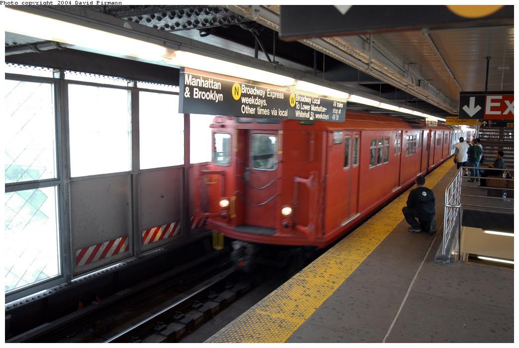 (148k, 1044x701)<br><b>Country:</b> United States<br><b>City:</b> New York<br><b>System:</b> New York City Transit<br><b>Line:</b> BMT Astoria Line<br><b>Location:</b> Queensborough Plaza<br><b>Route:</b> Fan Trip<br><b>Car:</b> R-33 Main Line (St. Louis, 1962-63) 9017 <br><b>Photo by:</b> David Pirmann<br><b>Date:</b> 6/19/2004<br><b>Viewed (this week/total):</b> 2 / 5772