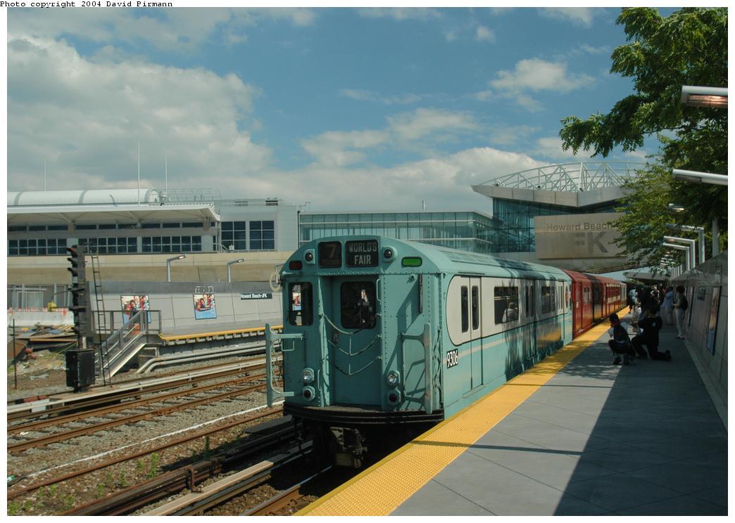 (160k, 1044x744)<br><b>Country:</b> United States<br><b>City:</b> New York<br><b>System:</b> New York City Transit<br><b>Line:</b> IND Rockaway Line<br><b>Location:</b> Howard Beach/JFK Airport<br><b>Route:</b> Fan Trip<br><b>Car:</b> R-33 World's Fair (St. Louis, 1963-64) 9306 <br><b>Photo by:</b> David Pirmann<br><b>Date:</b> 6/19/2004<br><b>Viewed (this week/total):</b> 1 / 3646