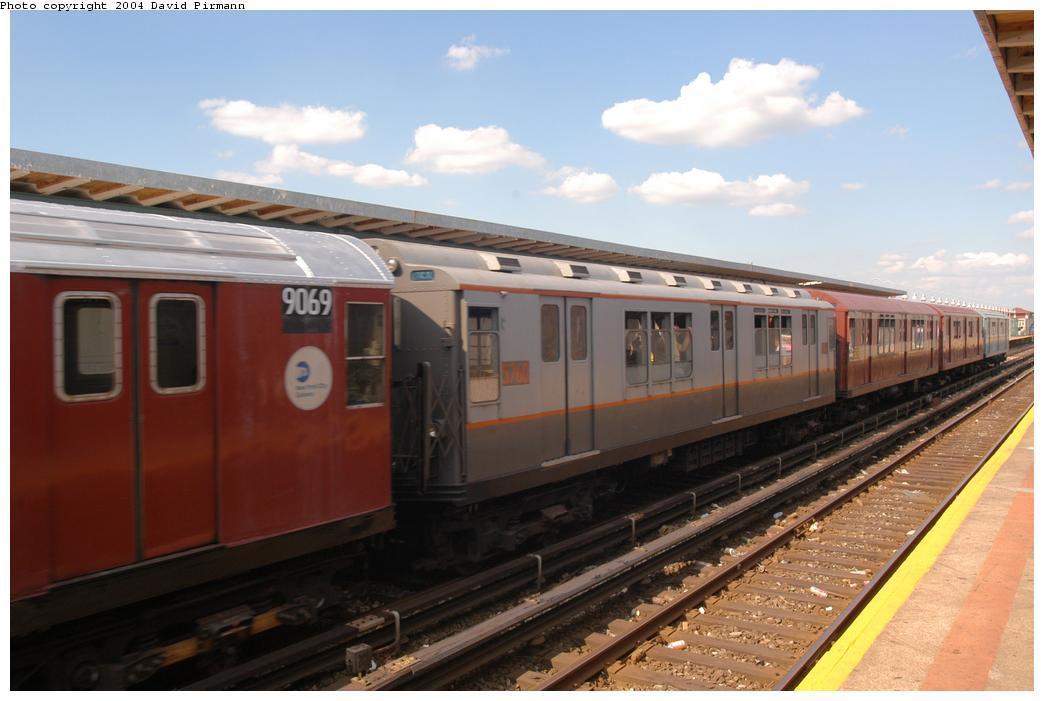 (137k, 1044x701)<br><b>Country:</b> United States<br><b>City:</b> New York<br><b>System:</b> New York City Transit<br><b>Line:</b> IND Rockaway Line<br><b>Location:</b> Beach 90th Street/Holland<br><b>Route:</b> Fan Trip<br><b>Car:</b> R-12 (American Car & Foundry, 1948) 5760 <br><b>Photo by:</b> David Pirmann<br><b>Date:</b> 6/19/2004<br><b>Viewed (this week/total):</b> 2 / 2849