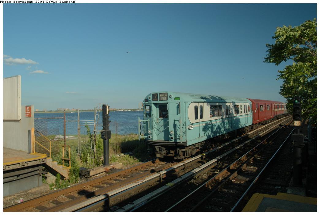 (139k, 1044x701)<br><b>Country:</b> United States<br><b>City:</b> New York<br><b>System:</b> New York City Transit<br><b>Line:</b> IND Rockaway Line<br><b>Location:</b> Broad Channel<br><b>Route:</b> Fan Trip<br><b>Car:</b> R-33 World's Fair (St. Louis, 1963-64) 9306 <br><b>Photo by:</b> David Pirmann<br><b>Date:</b> 6/19/2004<br><b>Viewed (this week/total):</b> 4 / 3987