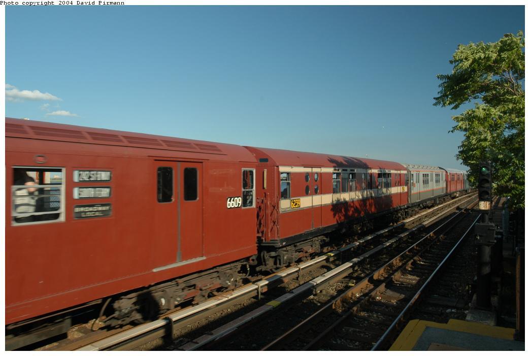 (135k, 1044x701)<br><b>Country:</b> United States<br><b>City:</b> New York<br><b>System:</b> New York City Transit<br><b>Line:</b> IND Rockaway Line<br><b>Location:</b> Broad Channel<br><b>Route:</b> Fan Trip<br><b>Car:</b> R-15 (American Car & Foundry, 1950) 6239 <br><b>Photo by:</b> David Pirmann<br><b>Date:</b> 6/19/2004<br><b>Viewed (this week/total):</b> 3 / 2620