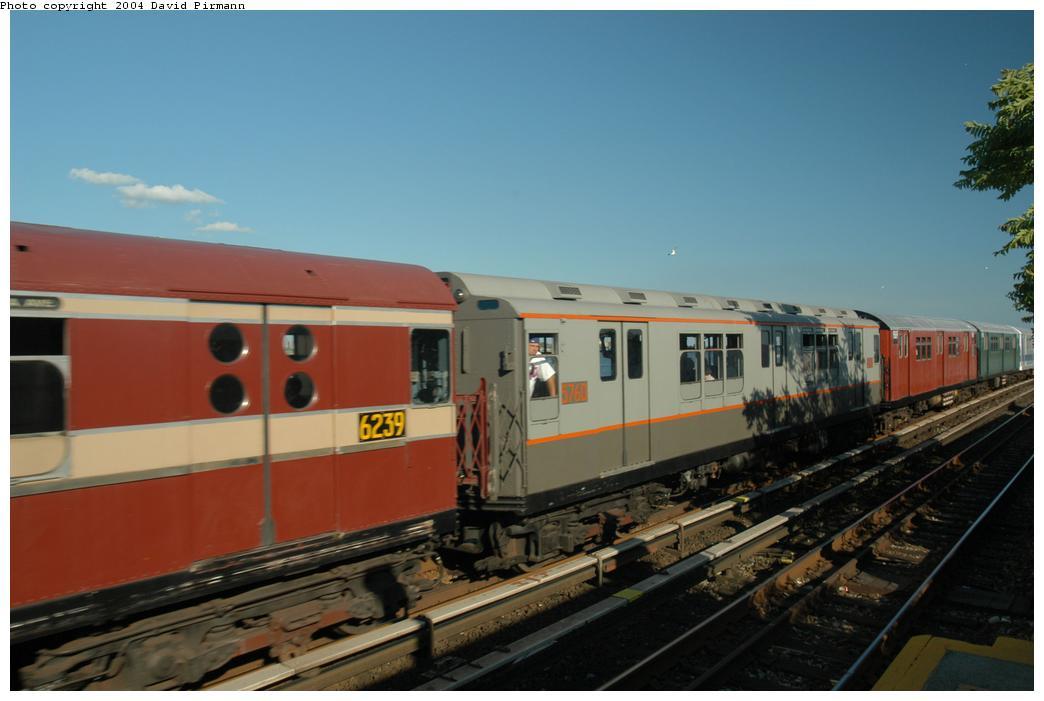 (124k, 1044x701)<br><b>Country:</b> United States<br><b>City:</b> New York<br><b>System:</b> New York City Transit<br><b>Line:</b> IND Rockaway Line<br><b>Location:</b> Broad Channel<br><b>Route:</b> Fan Trip<br><b>Car:</b> R-12 (American Car & Foundry, 1948) 5760 <br><b>Photo by:</b> David Pirmann<br><b>Date:</b> 6/19/2004<br><b>Viewed (this week/total):</b> 2 / 3083