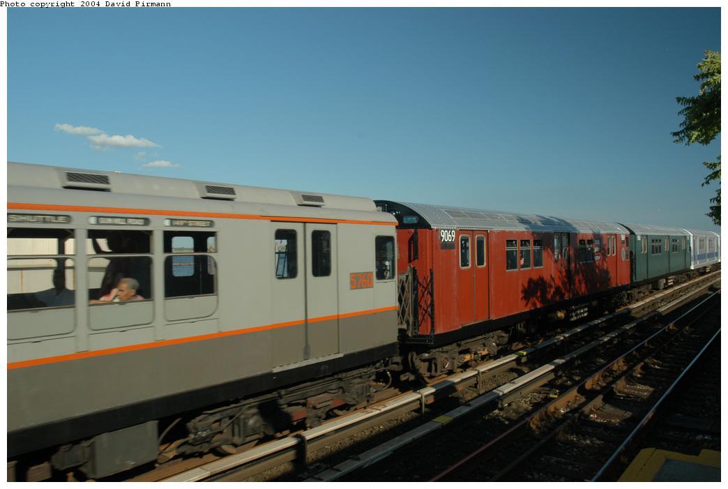 (119k, 1044x701)<br><b>Country:</b> United States<br><b>City:</b> New York<br><b>System:</b> New York City Transit<br><b>Line:</b> IND Rockaway Line<br><b>Location:</b> Broad Channel<br><b>Route:</b> Fan Trip<br><b>Car:</b> R-33 Main Line (St. Louis, 1962-63) 9069 <br><b>Photo by:</b> David Pirmann<br><b>Date:</b> 6/19/2004<br><b>Viewed (this week/total):</b> 3 / 2711