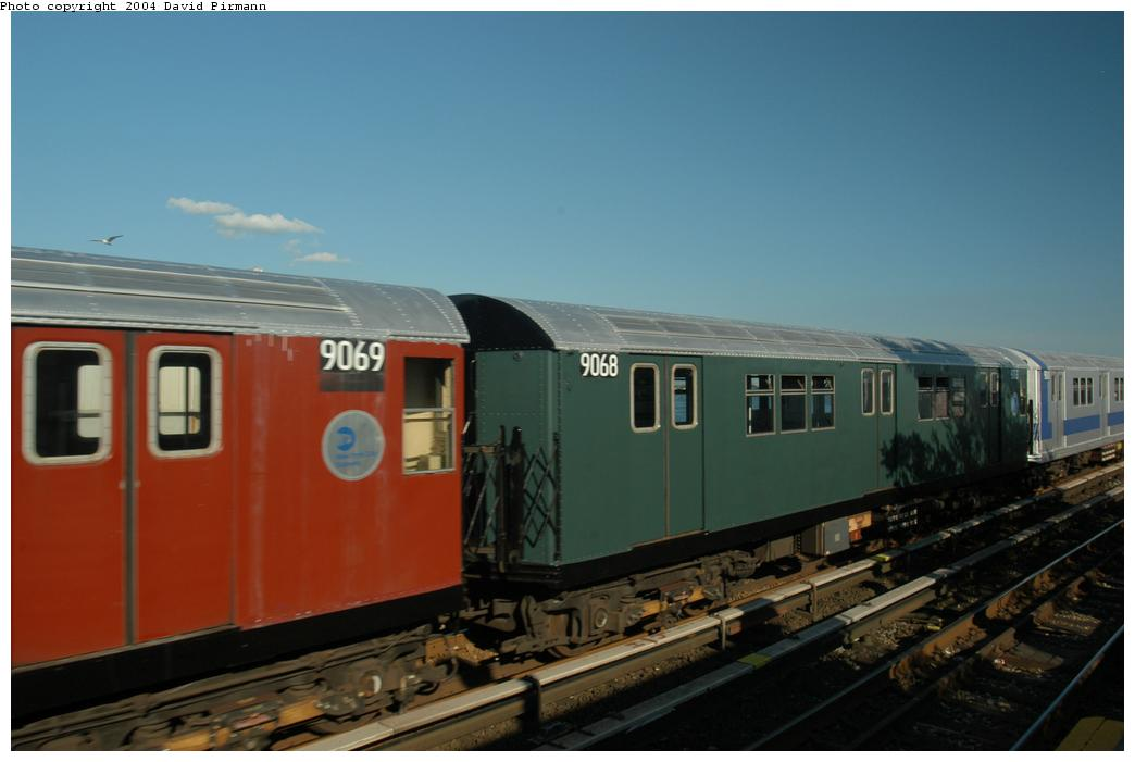(112k, 1044x701)<br><b>Country:</b> United States<br><b>City:</b> New York<br><b>System:</b> New York City Transit<br><b>Line:</b> IND Rockaway Line<br><b>Location:</b> Broad Channel<br><b>Route:</b> Fan Trip<br><b>Car:</b> R-33 Main Line (St. Louis, 1962-63) 9068 <br><b>Photo by:</b> David Pirmann<br><b>Date:</b> 6/19/2004<br><b>Viewed (this week/total):</b> 4 / 3767