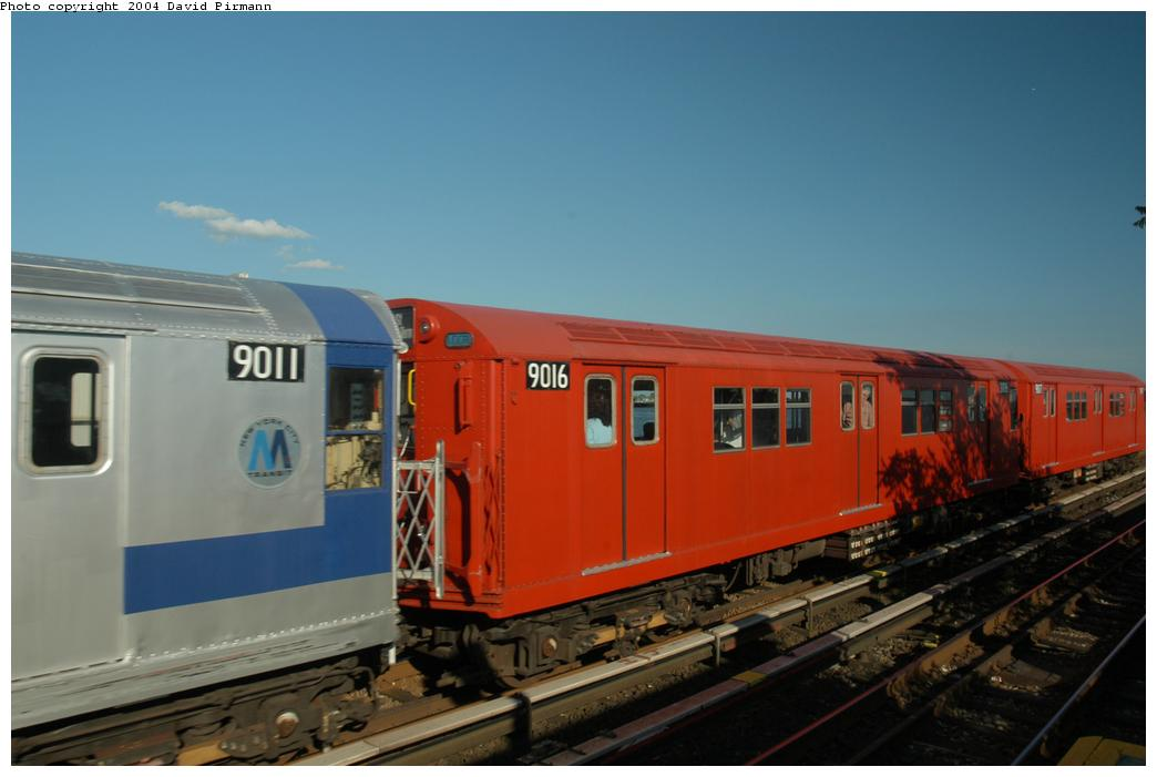 (118k, 1044x701)<br><b>Country:</b> United States<br><b>City:</b> New York<br><b>System:</b> New York City Transit<br><b>Line:</b> IND Rockaway Line<br><b>Location:</b> Broad Channel<br><b>Route:</b> Fan Trip<br><b>Car:</b> R-33 Main Line (St. Louis, 1962-63) 9016 <br><b>Photo by:</b> David Pirmann<br><b>Date:</b> 6/19/2004<br><b>Viewed (this week/total):</b> 1 / 2487