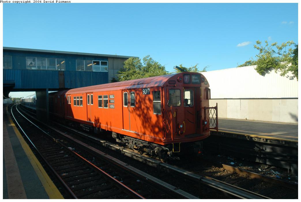 (137k, 1044x701)<br><b>Country:</b> United States<br><b>City:</b> New York<br><b>System:</b> New York City Transit<br><b>Line:</b> IND Rockaway Line<br><b>Location:</b> Broad Channel<br><b>Route:</b> Fan Trip<br><b>Car:</b> R-33 Main Line (St. Louis, 1962-63) 9017 <br><b>Photo by:</b> David Pirmann<br><b>Date:</b> 6/19/2004<br><b>Viewed (this week/total):</b> 2 / 3019