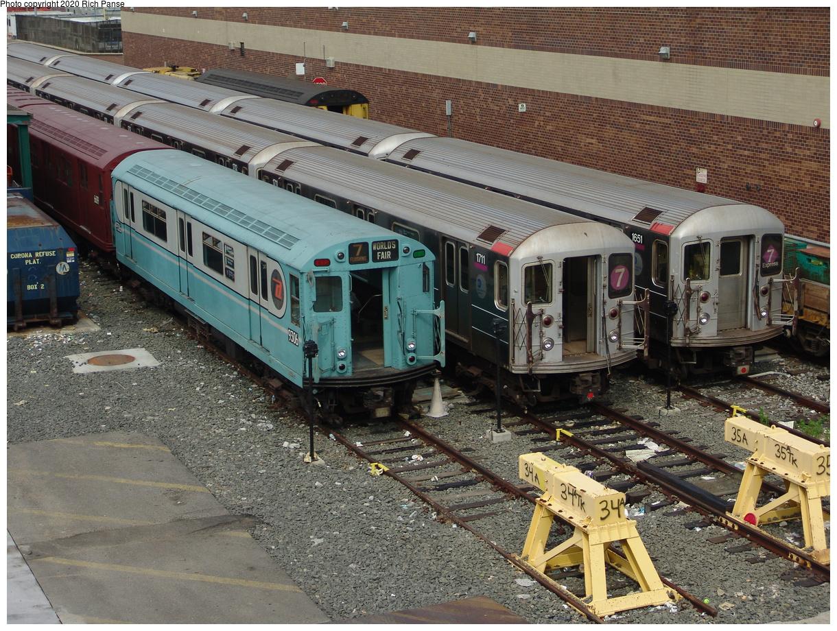 (600k, 1220x920)<br><b>Country:</b> United States<br><b>City:</b> New York<br><b>System:</b> New York City Transit<br><b>Location:</b> Corona Yard<br><b>Route:</b> Fan Trip<br><b>Car:</b> R-33 World's Fair (St. Louis, 1963-64) 9306 <br><b>Photo by:</b> Richard Panse<br><b>Date:</b> 6/19/2004<br><b>Viewed (this week/total):</b> 2 / 4511