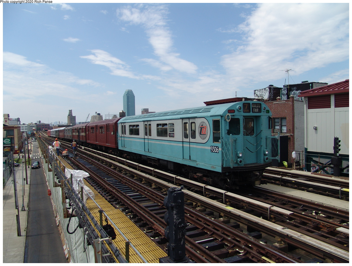 (458k, 1220x920)<br><b>Country:</b> United States<br><b>City:</b> New York<br><b>System:</b> New York City Transit<br><b>Line:</b> BMT Astoria Line<br><b>Location:</b> 36th/Washington Aves.<br><b>Route:</b> Fan Trip<br><b>Car:</b> R-33 World's Fair (St. Louis, 1963-64) 9306 <br><b>Photo by:</b> Richard Panse<br><b>Date:</b> 6/19/2004<br><b>Viewed (this week/total):</b> 3 / 3187