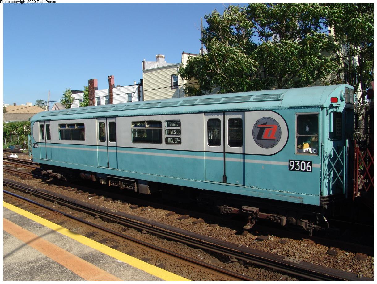(544k, 1220x920)<br><b>Country:</b> United States<br><b>City:</b> New York<br><b>System:</b> New York City Transit<br><b>Line:</b> IND Rockaway Line<br><b>Location:</b> Rockaway Park/Beach 116th Street<br><b>Route:</b> Fan Trip<br><b>Car:</b> R-33 World's Fair (St. Louis, 1963-64) 9306 <br><b>Photo by:</b> Richard Panse<br><b>Date:</b> 6/19/2004<br><b>Viewed (this week/total):</b> 1 / 3456